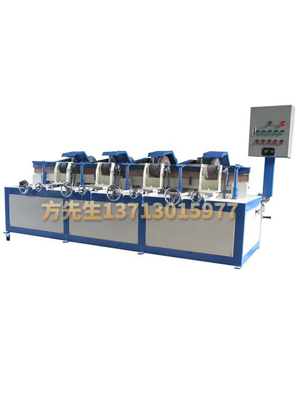 Four sets of round tube automatic polishing machine