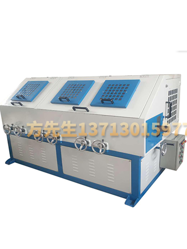 Three sets of round tube automatic polishing machine