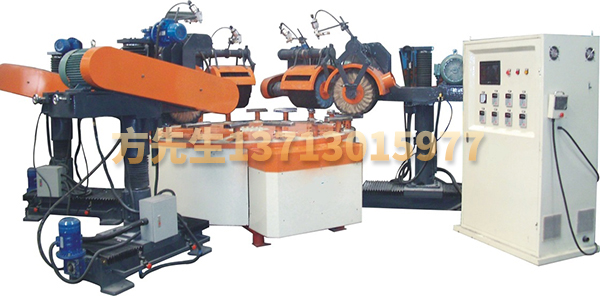 Five grinding head disc automatic polishing machine