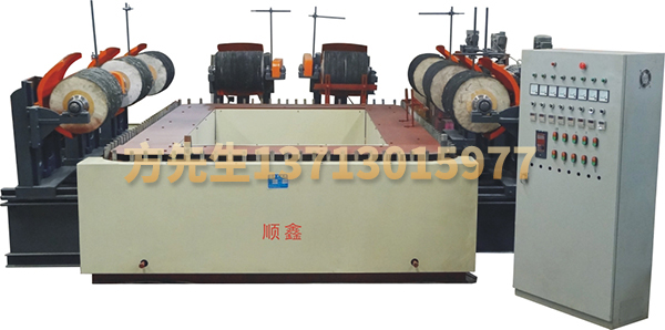 Eight-grinding head rectangular conveying type automatic polishing machine