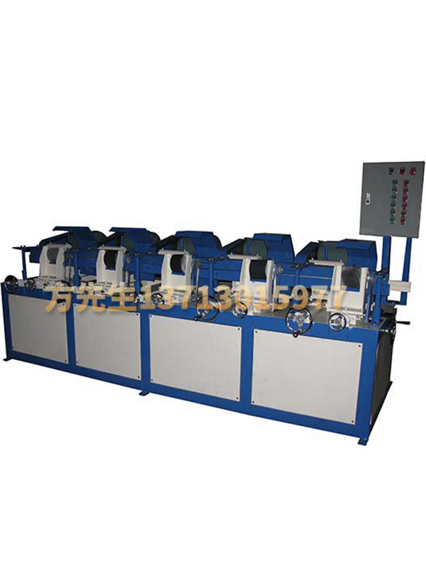 Five sets of round tube automatic polishing machine